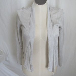 Eileen Fisher Silver Sparkle Open Cardigan S